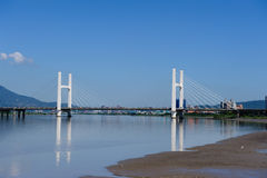A bridge under the blue sky Royalty Free Stock Images