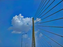 Bridge under the blue sky royalty free stock image