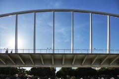 Bridge under blue sky in Valencia, Spain.  Stock Image