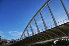 Bridge under blue sky in Valencia, Spain.  Stock Photo