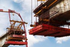 The bridge under building stock image