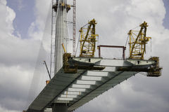 Bridge under construction Royalty Free Stock Photography