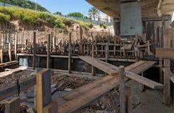 Bridge under construction Royalty Free Stock Photo