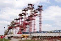 Bridge under construction Stock Image