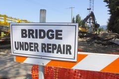 Bridge Under Repair Stock Photo