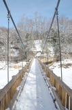 Bridge under snow Stock Image