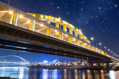 Bridge under stars Stock Photos
