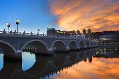 Bridge under sunset Royalty Free Stock Images