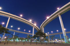 The bridge under twilight,Bangkok Royalty Free Stock Photos