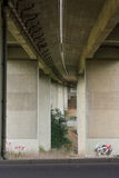 Bridge Underpass Perspective Leading Lines Street Outdoors Graffiti Royalty Free Stock Images