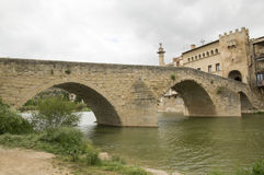 The bridge Valderrobres royalty free stock photos