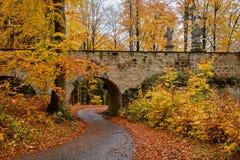 Bridge at Valdstejn Castle stock images