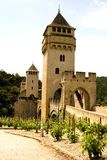Bridge Valetre in Cahors (1). Bridge Valetre in Cahors town, France, Lot River (1 Stock Image