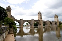 Bridge Valetre in Cahors (3). Bridge Valetre in Cahors town, France, Lot River (3 Stock Photos