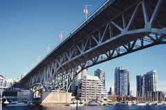 The bridge in the Vancouver Royalty Free Stock Images