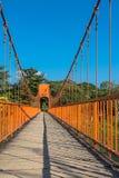 On the bridge in Vang Vieng Stock Photo