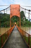 Bridge in Vangvieng , Laos. Rope bridge in Vangvieng , Laos Stock Photos