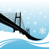 Bridge vector Royalty Free Stock Photography