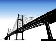 Bridge vector Royalty Free Stock Image