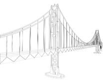 The Bridge Vector 04. The Bridge Constructions Structure Isolated Vector Stock Images