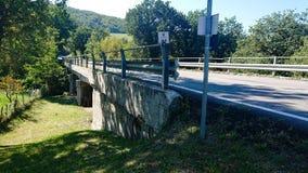1950 bridge. A venendo and steel based bridge build arringa 1950 stock photography