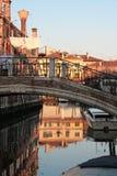 Bridge on a venetian canal Stock Photography