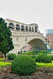 Bridge of Venetian Macau Casino and Hotel luxury resort Macao. Macao, China - March 8, 2016: Bridge of Venetian Macau Casino and Hotel, luxury resort in Macao Royalty Free Stock Photography