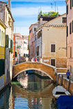Bridge in Venice Stock Images