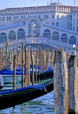 Bridge- Venice, Italy. Rialto Bridge crossing the Grand Canal in the city of Venice, Italy Stock Image