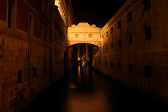 The bridge in Venice at night Stock Images