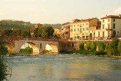Bridge in Verona Royalty Free Stock Photo