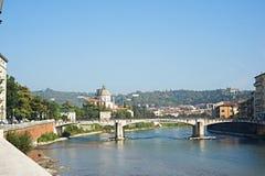 Bridge in Verona over Adige river Stock Photography