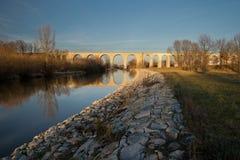 Bridge and viaduct. From 1846 in Boleslawiec, Poland Stock Photos