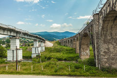 Bridge viaduct in the Carpathians Royalty Free Stock Photos