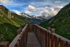 Bridge into the view stock image
