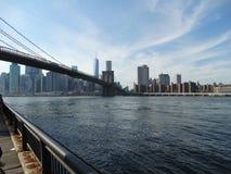 Bridge. The view from the Brooklyn bridge park Royalty Free Stock Photo