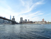 Bridge. The view from the Brooklyn bridge park Stock Photography