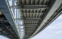 Bridge. A view from the underside of a bridge Royalty Free Stock Images