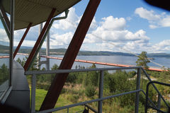 Bridge viewed from a restaurant Royalty Free Stock Photography
