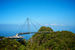 The bridge is a viewing platform Stock Images