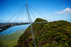 The bridge is a viewing platform Royalty Free Stock Images