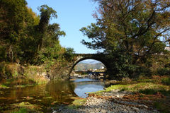 Bridge at village Chaguan Royalty Free Stock Images