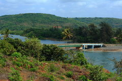 Bridge in village Ganapatipule Stock Photo