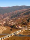 Bridge and village landscape Stock Image