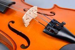 Bridge of a violin Stock Photos