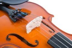 The bridge of a violin Stock Photo