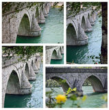Bridge in Visegrad across Drina Stock Images