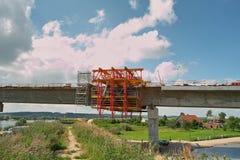 Bridge on the Vistula river Royalty Free Stock Photography