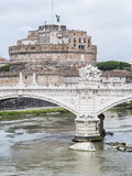 Bridge Vittorio Emanuele II Castle Saint Angelo Stock Photography