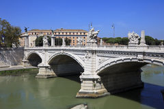 The Bridge Vittorio Emanuele II, Rome, Italy. Stock Photography